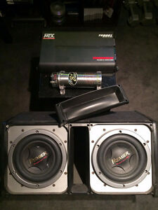 EXTREME POWER Subwoofer, amplifier, capacitor, sealed/vented box