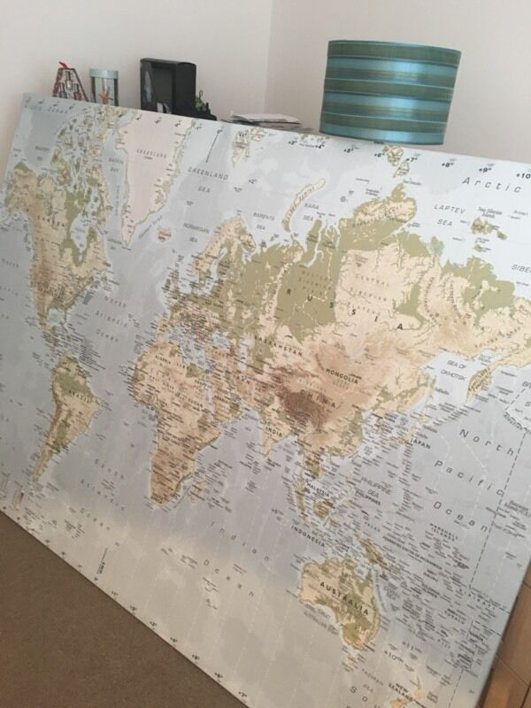 Ikea Extra Large World Map Canvas In Houghton Le Spring Tyne And
