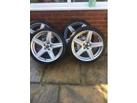 "4 18"" Wolf Race alloys with tyres"