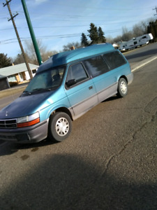 For sale one 1993 grand caravan with working wheelchair lift and