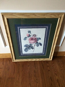 Wall Rose picture with a Frame