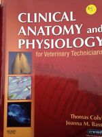Various textbooks for veterinary technician and pre health