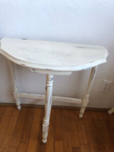 Antique Half-Moon Table