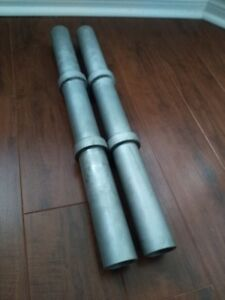 STAINLESS STEEL FAT DUMBBELL RODS, 2 inch (trade or sale)