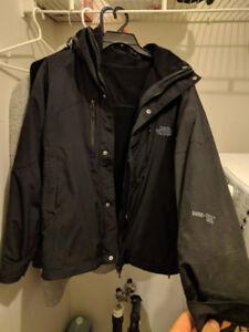 Black north face 3-in-1 goretex jacket. Medium. 8/10 condition