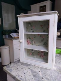 Vintage glass fronted Wall cabinet