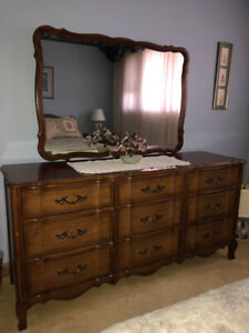 Nine drawer bedroom dresser with mirror by Malcolm