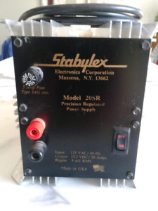 Power supply stabylex 20 ampères, 120/12v.