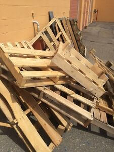Free pallets for firewood
