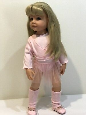 "Gotz Doll Hannah 19"" With New Gotz Ballet Outfit"