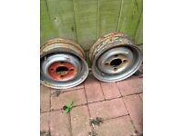 Classic mini 10 inch wheels x2