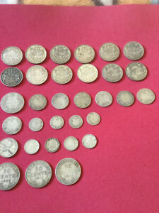 Canada Newfoundland silver coin mixed lot