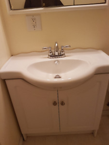 Vanity, sink, and taps