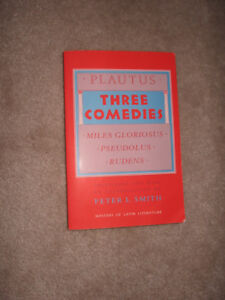 Plautus Three Comedies