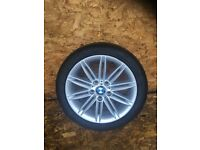 """BMW 1 SERIES E8X """"17"""" M SPORT FRONT ALLOY WHEEL AND TYRE"""