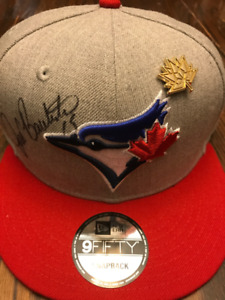 Baseball Cap - Brand New Signed Jose Bautista Blue Jays Snapback