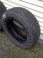 """One sets of 4 good year 18"""" tires"""