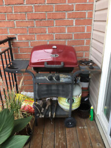 Red and Black gas grill/barbeque