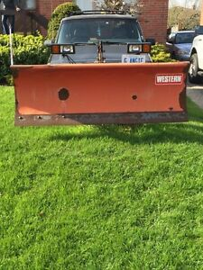 SNOW PLOW WESTERN 6.5ft