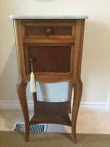 ANTIQUE MARBLE TOP COMMODE NIGHTSTAND