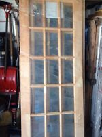 French doors wood brand new (2) 30 by 80
