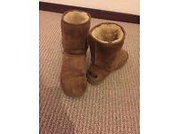 Ladies chestnut UGG boots size 6