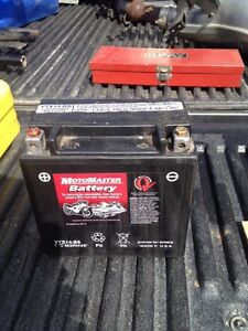 Snowmobile battery.