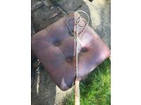 Interesting old rug beater, lovely shape with handle