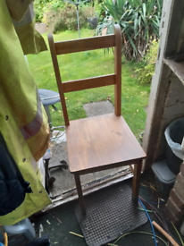 4 chairs wooden