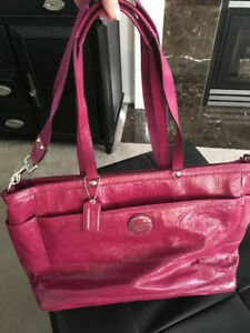 Coach Diaper Bag For Sale- Pink