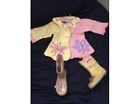 Kidorable raincoat 9 - 18 months and wellies size 7