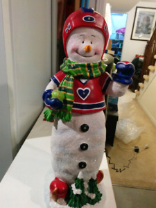 Christmas hockey snowman