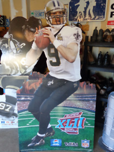 Drew Brees Cardboard Life Size,  New Orleans Saints Quarter Back
