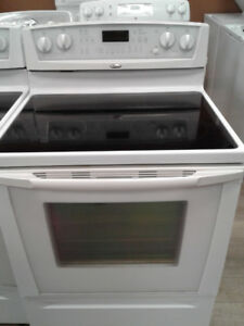 """stove whirlpool convection white glass top 30"""""""