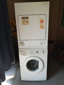 stackable apt size washer dryer set