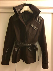 RK Chocolate Brown Wool/Leather Jacket - GREAT DEAL!!!