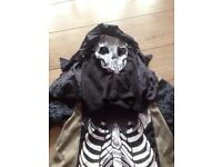 3 piece skeleton costume