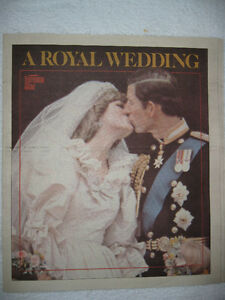HISTORIC NEWSPAPERS-- THE ROYALS. NEW PRICE $20