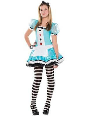 Alice In Wonderland Costume Age 10 (Teen Clever Alice In Wonderland Costume Girls Book Day Fancy Dress Age)