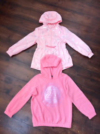 2 x Pink Items. 1 x coat and 1 x Hoodie age 5 to.6.