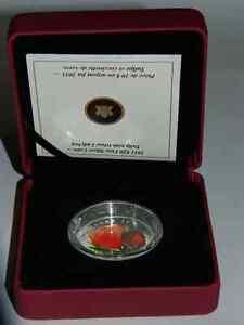 2011  20$ coccinelle en  verre vénitien et tulippe en argent pur