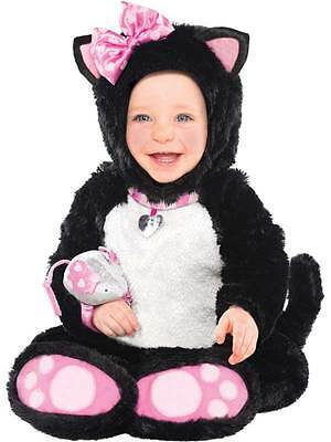 Baby Itty Bitty Kitty Cat Costume Toddler Halloween Outfit Fancy Dress 6-18 Mths