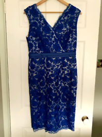 """""""Jacques Vert"""" Royal Blue Special Occasion / Wedding / Ascot Dress - S"""