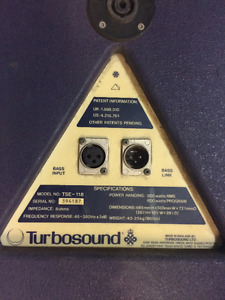 SUB WOFFER 18 POUCE TURBO SOUND