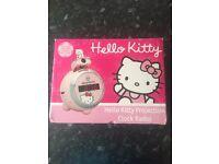 Hello Kitty clock radio