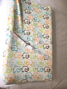 Contour baby change pad and plush cover