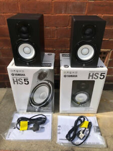 Yamaha HS5 Studio Monitors - BLACK