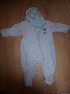 Padded reversibel snowsuit, size 3 - 6m, excellent condition