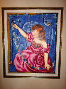 """Gorgeous Oil Painting 41""""x49"""" well known artist-only $395"""