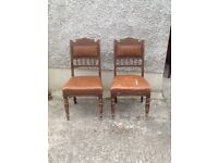 A pair of vintage chairs